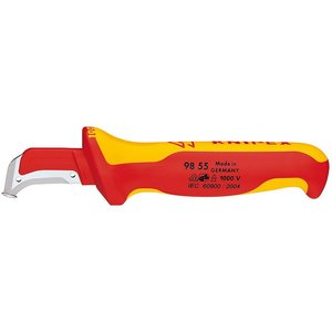 Knipex 98-55-SB Insulated Dismantling Knife, 7.7""
