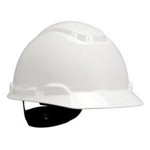 3M H-701R-EA Hard Hat, White, 4-Point Ratchet Suspension
