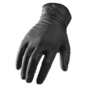 Lift Safety GNX-1KL Black Disposable Gloves - Large, 100 per Box