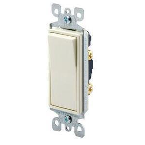 Leviton 5611-2W Illuminated Decora Rocker Switch, 1-Pole, 15A, 120/277V, White