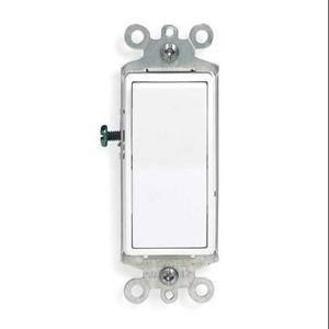 Leviton 5601-2W Single-Pole Decora Switch, 15A, 120/277V, White, Residential Grade