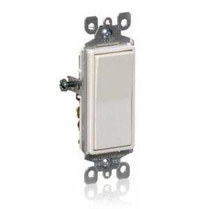 Leviton 5601-2I Single-Pole Decora Switch, 15A, 120/277V, Ivory, Residential Grade