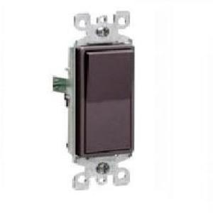 Leviton 5601-2 Single-Pole Decora Switch, 15A, 120/277V, Brown, Residential Grade