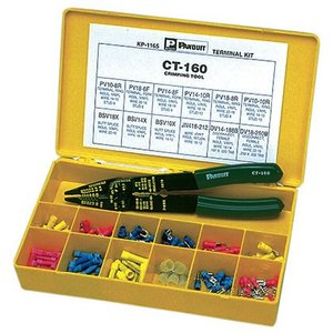 Panduit KP-1165Y Terminal Kit in Plastic Box, Includes Terminals & Tool