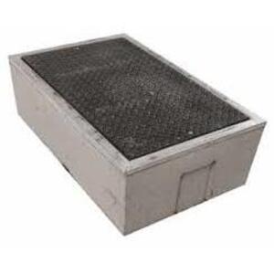 "Oldcastle Precast B1017BOX Underground Box, 10"" x 17"" x 12"", Open Base, Reinforced Concrete"