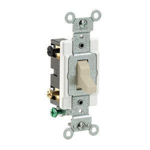 Leviton CS415-2I 4-Way Switch, 15 Amp, 120/277V, Ivory, Side Wired, Commercial Grade