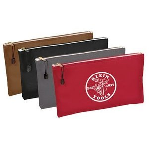 Klein 5141 Canvas Zipper Bags, Red, Gray, Blue, & Brown, 4-Pack