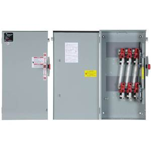 GE TC35326 Safety Switch, Double Throw, Non-Fused, 600A, 250VAC, NEMA 1