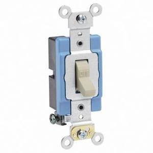 Leviton 1201-2I Single-Pole Toggle Switch, 15A, 120/277V, Ivory, Industrial Grade