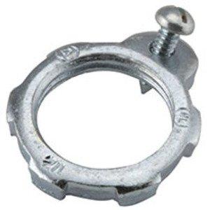 "Hubbell-Raco 1244 Grounding Locknut, Steel, 1"""