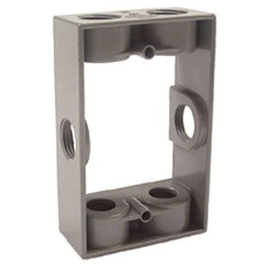 "Hubbell-Raco 5400-0 Weatherproof Box Extension, 1-Gang, Depth: 1-1/2"", Die Cast"