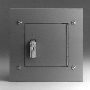 "Cooper B-Line 12126-TCF Utility Cabinet, NEMA 1, Hinge Cover with Flush Trim, 12 x 12 x 6"""