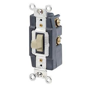 Leviton 1256-I Momentary Toggle Switch, Ivory