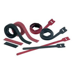 "Panduit HLSP1.5S-X0 Hook & Loop Cable Ties, Plenum Rated, Black, 6"" Strips"