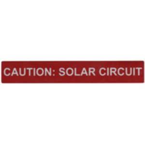 "HellermannTyton 596-00247 Reflective Solar Label, 6.5"" X 1"", CAUTION: SOLAR CIRCUIT, Red"