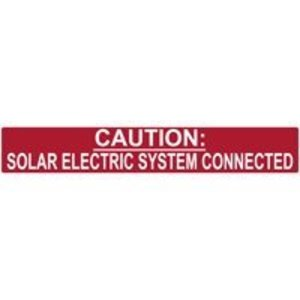HellermannTyton 596-00245 Solar Electric Systems Labels