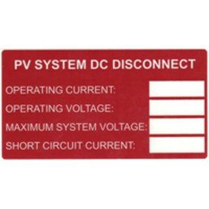 HellermannTyton 596-00241 DC Disconnect Label