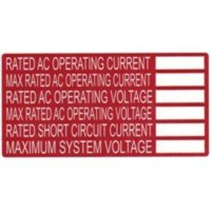 HellermannTyton 596-00240 AC Rating Label