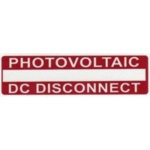 HellermannTyton 596-00238 Photovoltaic DC Disconnect Labels
