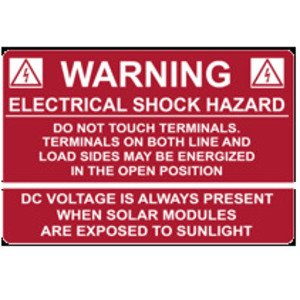 HellermannTyton 596-00232 Electric Shock Hazard Label