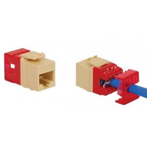 ICC IC1078F6BL Snap In Connector, Modular Jack, High Density, 8P8C, CAT6, Blue