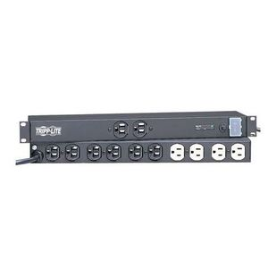 Tripp Lite IBAR12 Network Server Surge Protector, 12-Outlet, 15A, 1U Rack-Mount, 15' Cord
