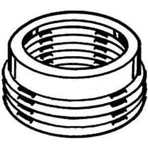 "Hubbell-Raco 1151 Reducing Bushing, Threaded, 1-1/2"" x 1-1/4"", Steel"