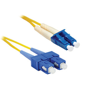 CP Technologies LCSC-SMD-01 Singlemode Duplex Fiber Optic Patch Cord, LC to SC, 1 Meter