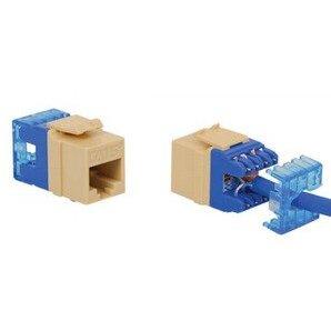 ICC IC1078F5BL Snap-In Jack, 8P8C, HD Style, CAT5e, Keystone, Blue