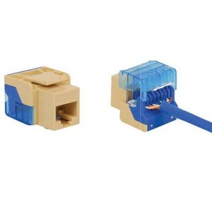 ICC IC1078E5BL Snap-In Jack, 8P8C, EZ Style, CAT5e, Keystone, Blue