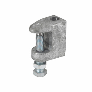 "Cooper B-Line B3033-1/2PLN C-Clamp, Type: Reversible, Rod Size: 1/2""-13, Material: Steel"