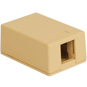 ICC IC107SB1IV Telephone/Data, Surface Mount, 1 Port, Jack, IC107, Ivory