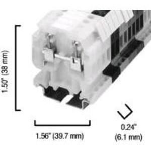 Allen-Bradley 1492-HM1GY Terminal Block, Gray, 30A, 600V AC/DC, Finger Safe