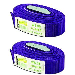 Dottie 2WS08 8' Web Straps w/ Buckle, Nylonr - Purple, 2 Included