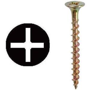 "Dottie WR62 Drywall Screw, #6 x 2"", Phillips/Bugle, Coarse Thread, Yellow Zinc"