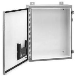 "Hoffman A201608LP Wall Mount Enclosure, NEMA 12/13, 20"" x 16"" x 8"", Steel/Gray"