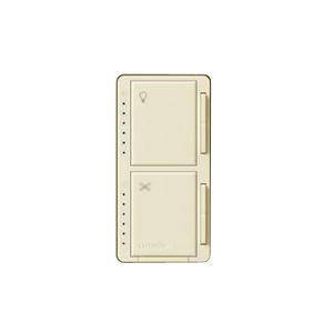 Lutron MA-LFQHW-AL Dimmer/Fan Control, Incandescent, Meastro, Almond