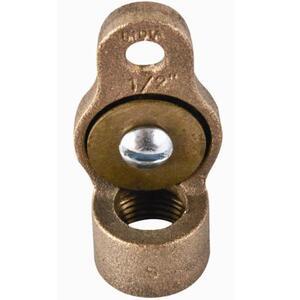 "Dottie HUB50L Conduit Grounding Hub, 1/2"", Bronze, 10 - 6 AWG"
