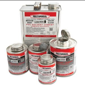 Rectorseal 55996 PVC Cement, Gray, 1 Quart