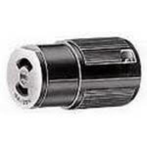 Hubbell-Kellems HBL7464V 15A, 125V, 2P2W, Twistlock Connector, Black
