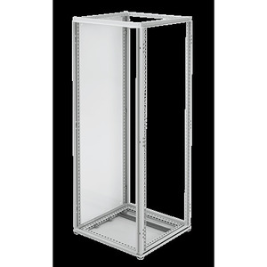 "Hoffman PPFSM204 Subpanel, Type: Side Mount, Size: 75.12 x 9.72"", Steel/White"