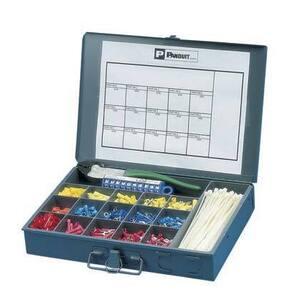 Panduit K1-PNKIT Terminal Kit, Assorted Terminals, Ties, Markers and Tool