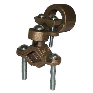 "Dottie 30H Pipe Clamp with 3/4"" Hub, Bronze, 1/2"" - 1"", 10 AWG - 2/0 AWG"