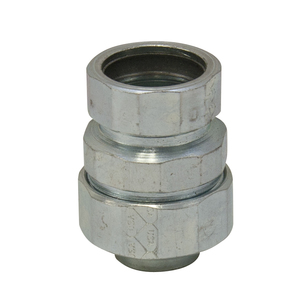 American Fittings Corp STREMT100 1 inch L/T EMT Combination Coupling, Steel, Zinc Plated.
