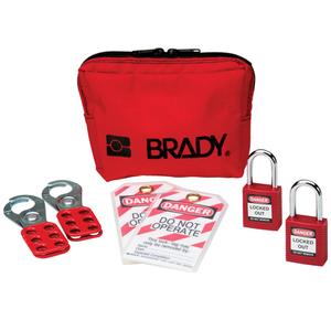 Brady 105969 Personal Padlock Pouch w/Safety Padlocks