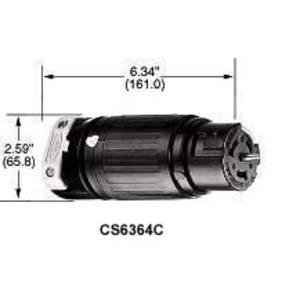 Hubbell-Kellems CS8364C Locking Connector, 50A, 3PH 250V, California Style, 3P4W