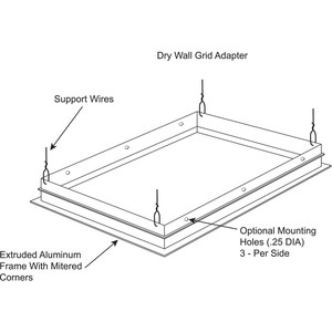 Lithonia Lighting DGA24 Dry Wall Grid Adapter