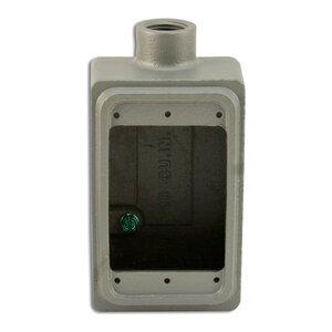 "Appleton FS175A FS Device Box, 1-Gang, Feed-Thru, Type FS, 3/4"", Aluminum"