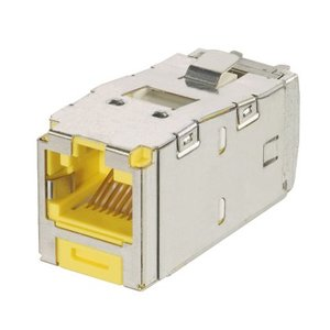 Panduit CJSK6X88TGYL Mini-Com Keyed Module, Cat 6A, Shielded,