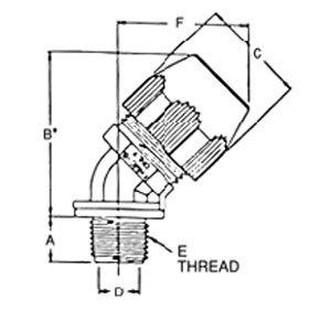 "Thomas & Betts LT4100P  Liquidtight Connector, 45°, 1"", Non-Metallic"